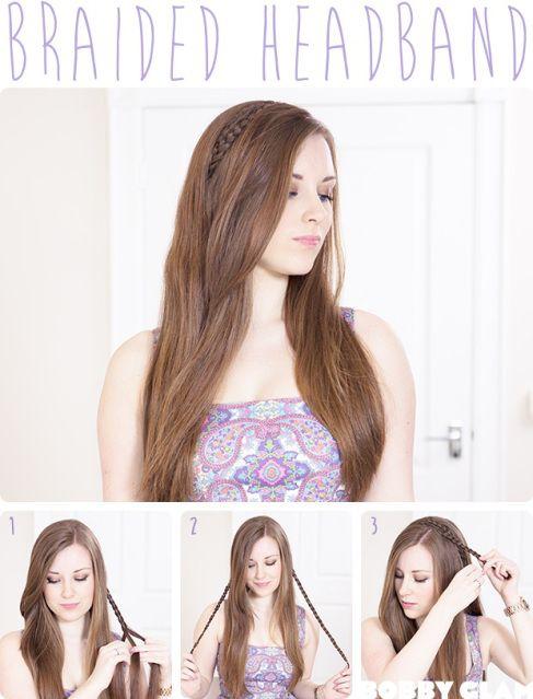 braided hair headband tutorial