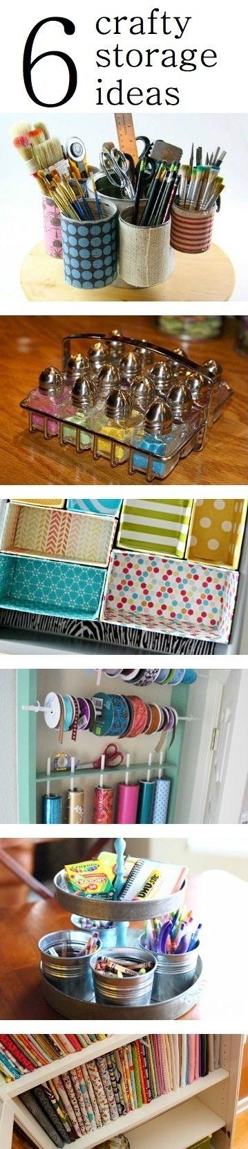 Craft Supply Organizing Ideas