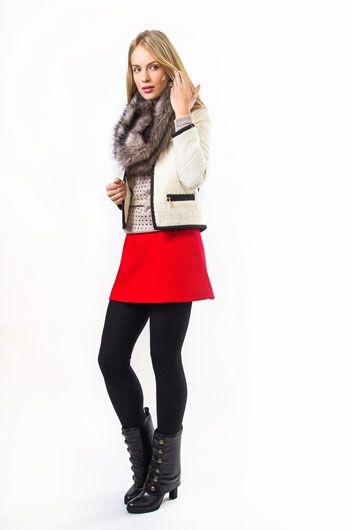 Mini skirt - Summer clothing staples for your winter wardrobe with our Dalli booties!