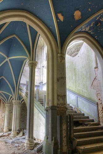Inside the abandoned castle