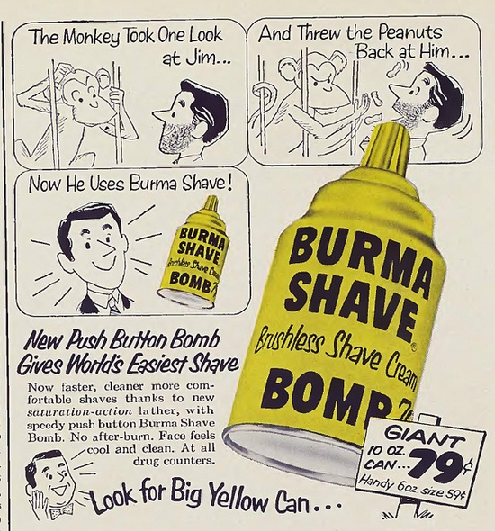 Burma Shave Bomb by Vintage Cool 2, via Flickr