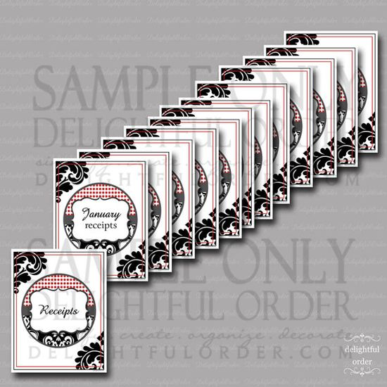 Receipt Organizing Printable Pack  13 Printable by DelightfulOrder, $15.00