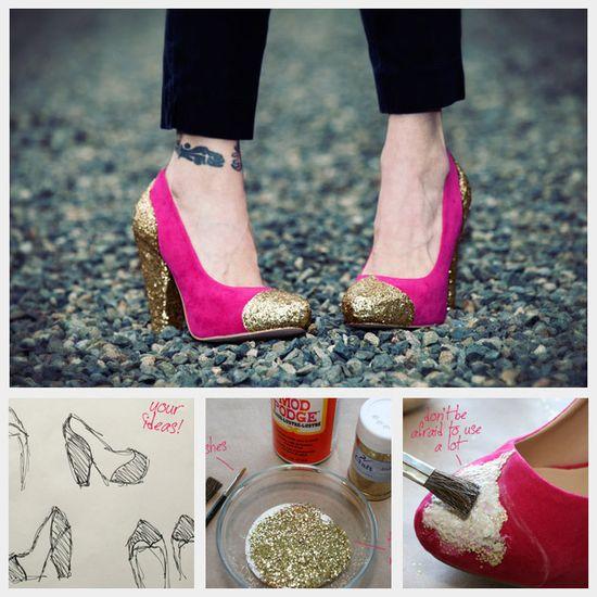 glitter shoe tutorial