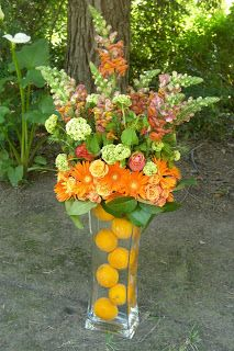 cool vase and flower arrangement