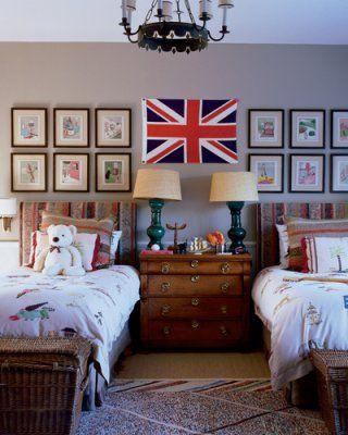 union jack twin bed kids room