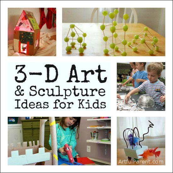 3D Art and Sculpture Ideas for Kids