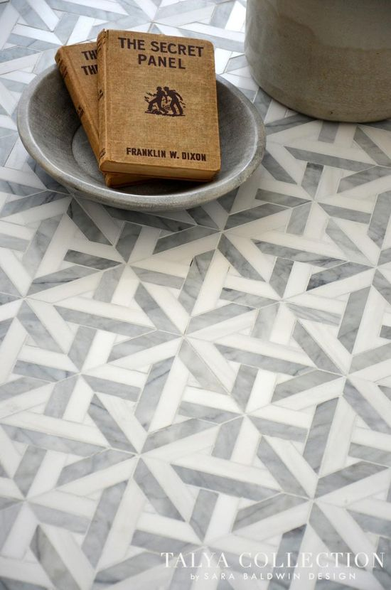 This mosaic floor is truly stunning.