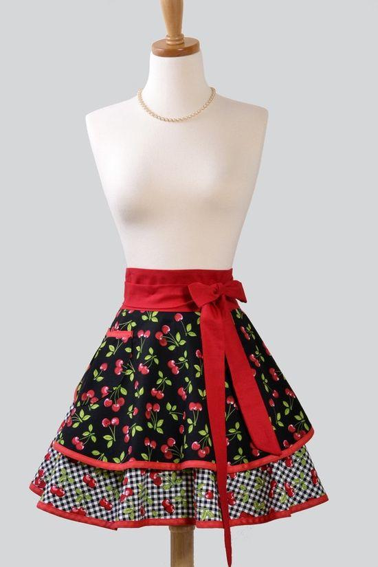 Fabulous cherry apron (wish it were a skirt!) ; )