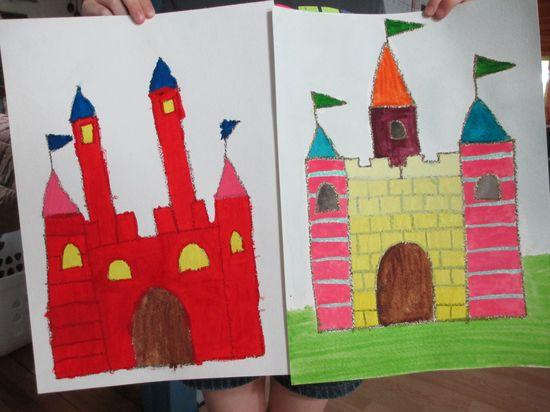 Castles acrylic