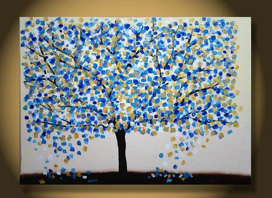 Large Tree Painting original Abstract art wall art interior desing wall art