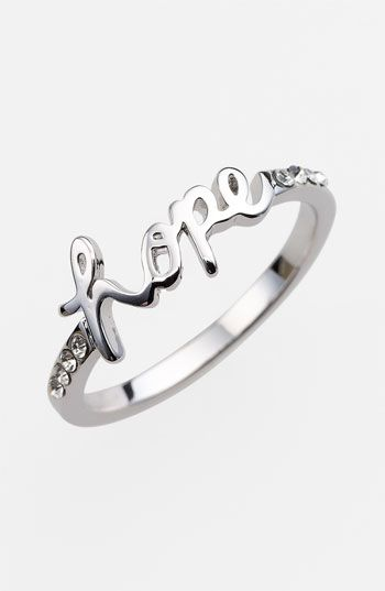 Ariella Collection 'Messages - Hope' Script Ring (Nordstrom Exclusive)