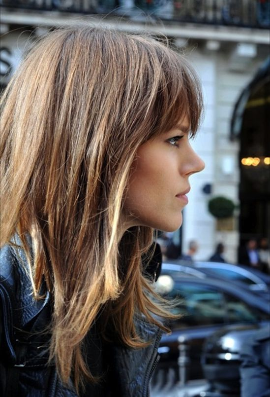 // layered // bangs // Freja