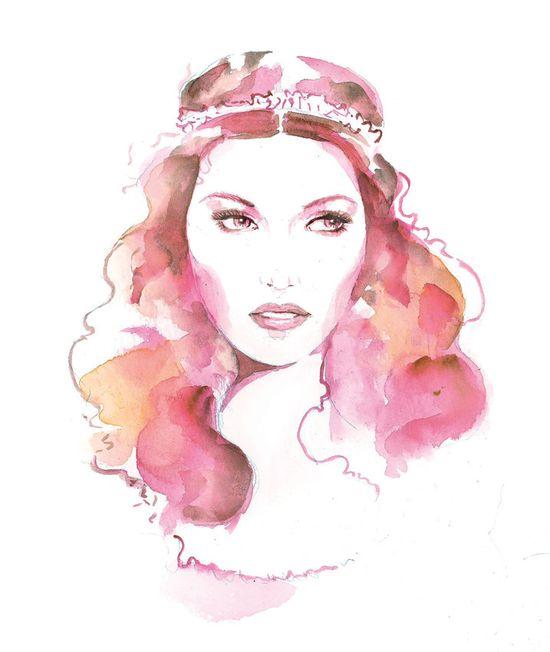 Pink Watercolor Fashion