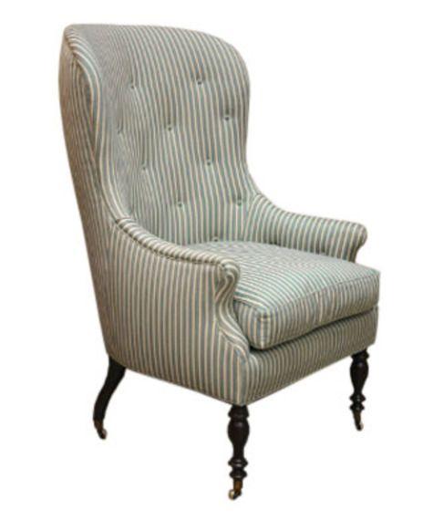 So pretty! Hollyhock Barrel Back Chair