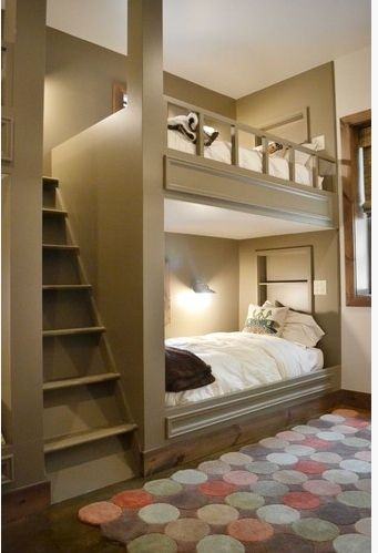 Great bunk bed idea with the stairs