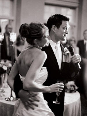 20 secrets to a fun wedding reception.  I love the one about having a lounging space so people who don't dance aren't stuck at their tables all night.