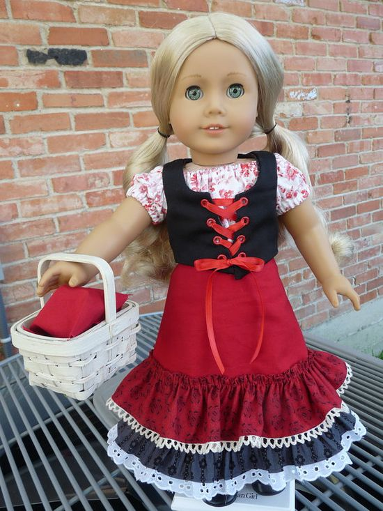 18 Doll Clothes Little Red Riding Hood Fairy by Designed4Dolls