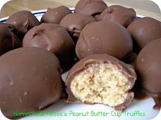 Homemade Reeses Peanut Butter Cup Truffles #Dessert #Recipe