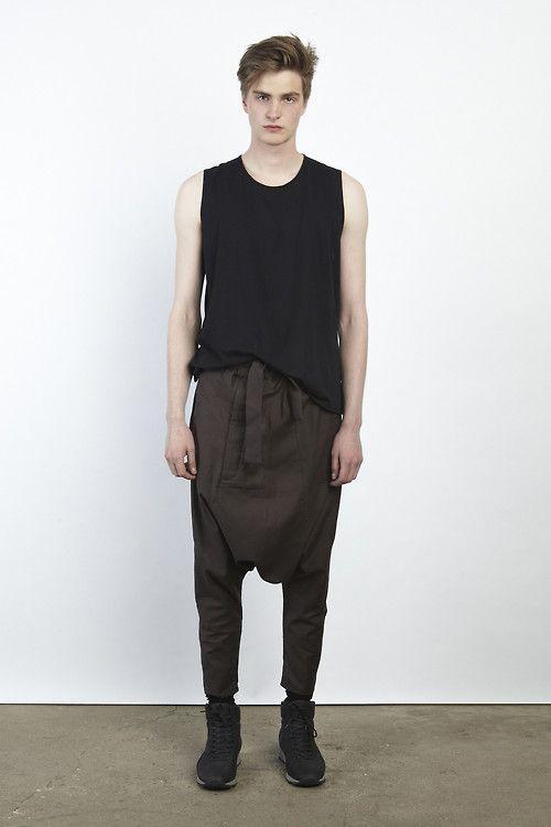 Siki Im spring 2013 drop crotch belted pants