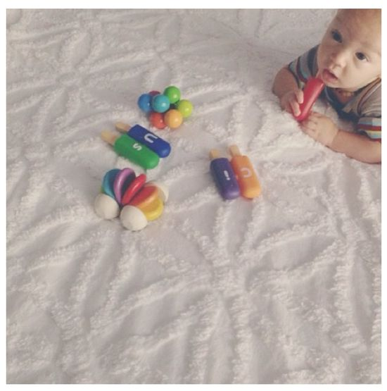 Baby boy play time