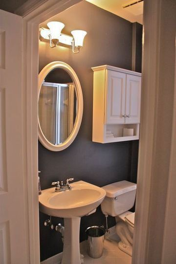 Love this simple classic style for a small bathroom