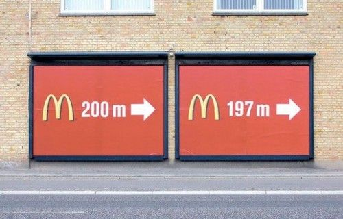 McDonalds is everywhere.