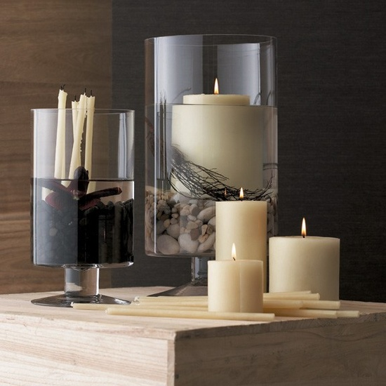 Candle Holders: Footed Glass Hurricanes, so elegant, over 3,000 beautiful interior design inspirations inc, furniture, lighting, mirrors, tabletop accents and gift ideas to enjoy pin and share at InStyle Decor Beverly Hills Hollywood Luxury Home Decor enjoy & happy pinning