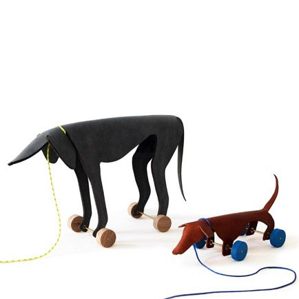 Leather dog toys