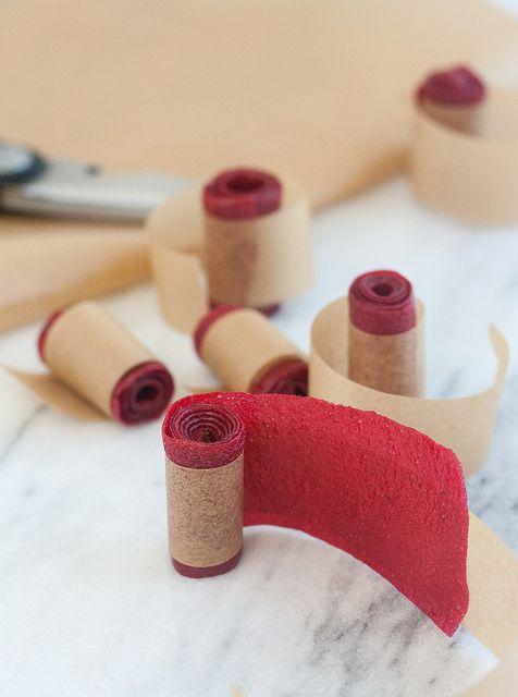 Homemade Raspberry Fruit Leather