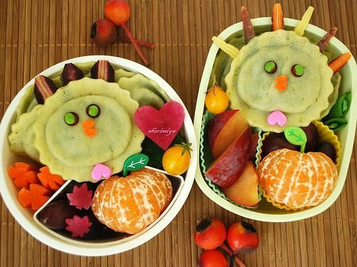 "#Bento Love: Kids Will ""Gobble"" Up a Turkey Bento"