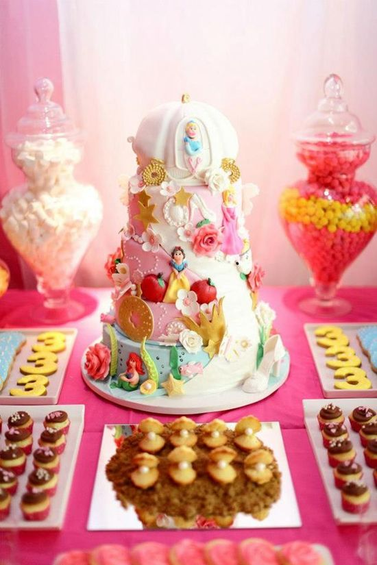 Amazing Cake at a Princess Fairy Tale Party with Lots of CUTE Ideas via Kara's Party Ideas
