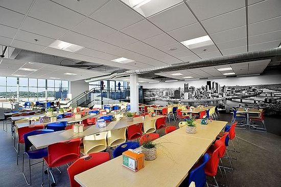Here's the indoor cafeteria ... Google. Pittsburgh