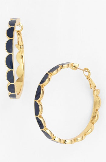 kate spade new york 'scallop' hoop earrings available at #Nordstrom
