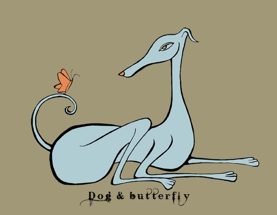 Dog & Butterfly - Italian Greyhound t-shirt