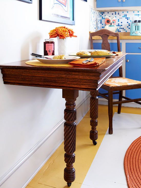 Use this trick to revive a dilapidated table! Click to learn more: www.bhg.com/...
