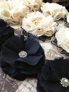 Handmade fabric flowers - Crafting Virtue