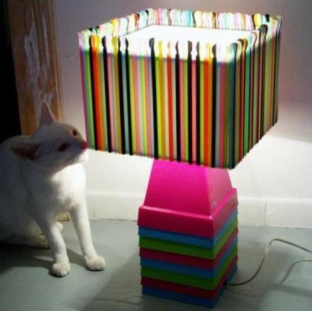 creative handmade straw light