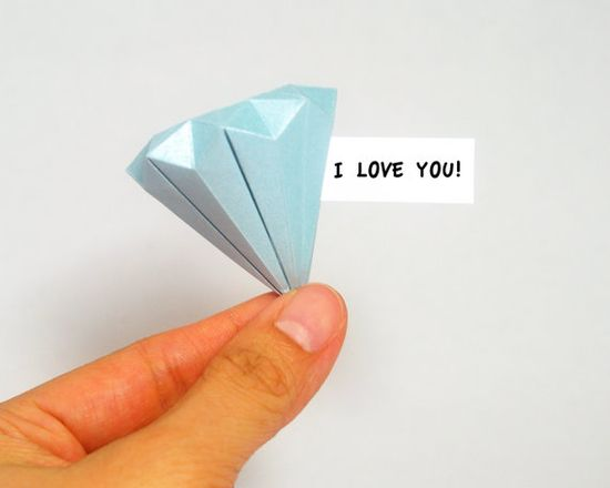 Origami Blue Diamond