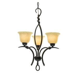 Marquis Lighting 3-Light Ceiling Golden Bronze Incandescent Chandelier-CLI-QU2703-170-GB at The Home Depot
