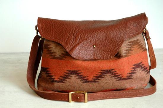 Nina bag Pendleton Wool Chenle pattern by appetite on Etsy, $68.00