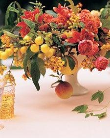 fruit and flower floral arrangement