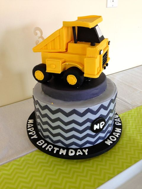 Cake at a Construction Party #construction #party
