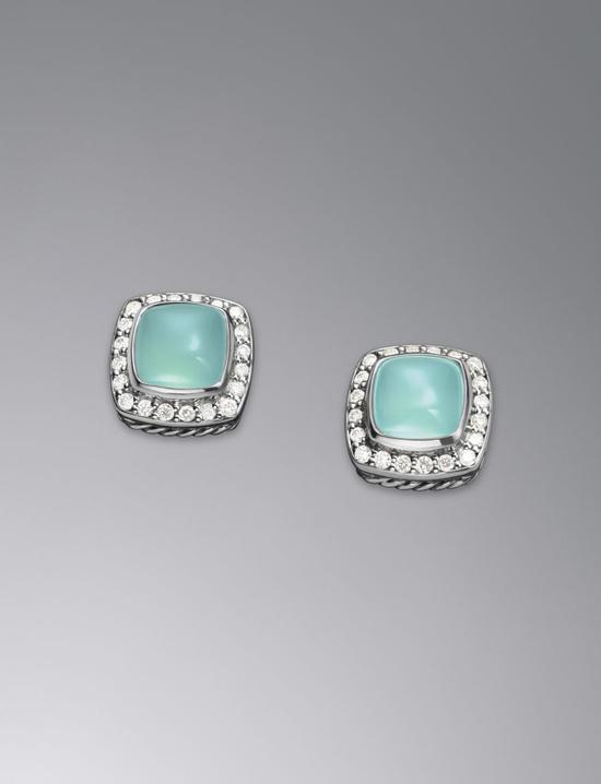 petite albion aqua chalcedony earrings / david yurman