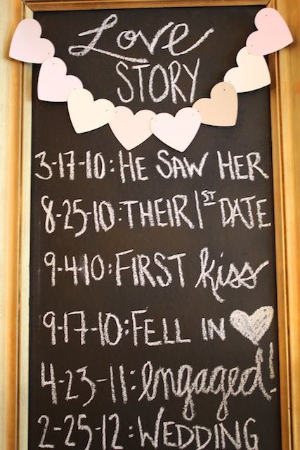 Great idea for a reception!
