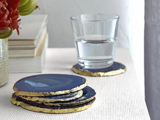 agate coasters #home decorating before and after #interior decorating #home design ideas