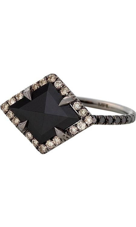MPL Black Diamond Kite Ring