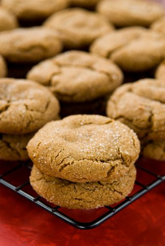 "Pumpkin molasses cookies. ""Soft, chewy spice cookies blend perfectly with pumpkin to create one spectacular cookie."""