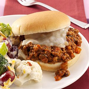 Sloppy Pizza Joes Recipe from Taste of Home -- shared by Charlene Easter of Milan, Illinois