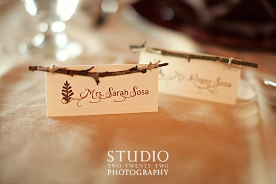 stick place cards.