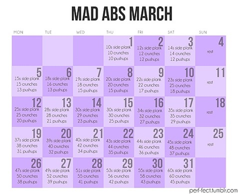 "march ""ab""ness-starting this tomorrow 3/4"